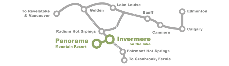 Map to Invermere and Panorama