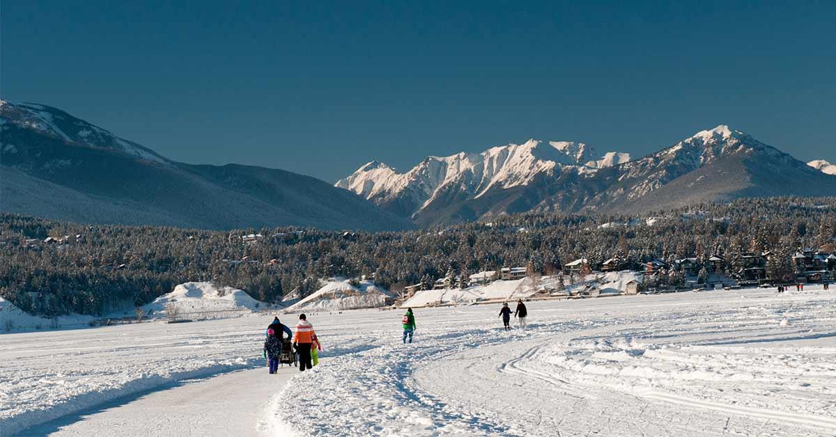 Nordic Ski and Skate at Invermere BC /Lake Windermere Whiteway Trails