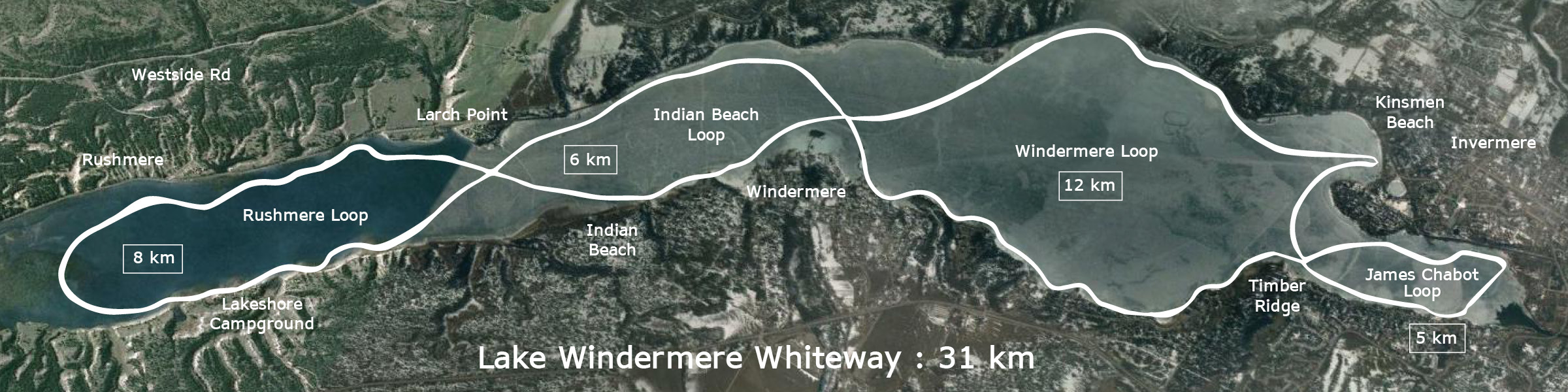 Lake Windermere Whiteway Map Invermere BC
