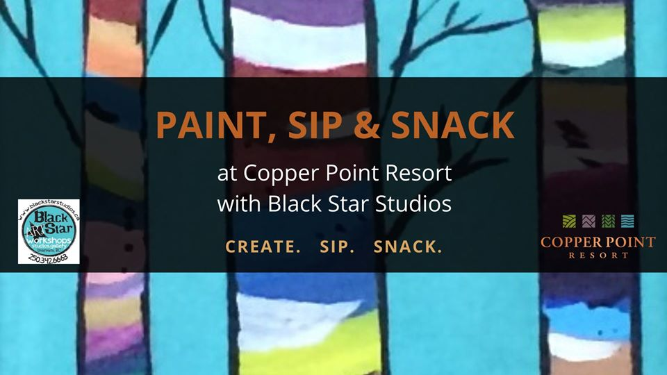 Paint Sip and Snack at Copper Point Resort